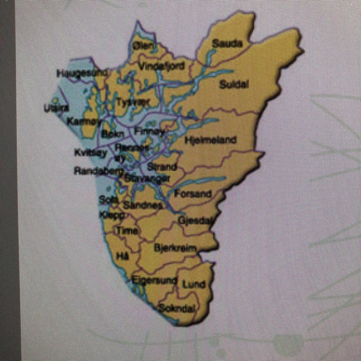 Rogaland Fylke  Kvadrat